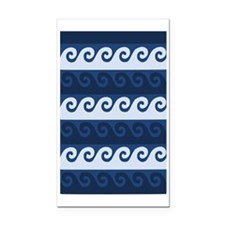Cute Nautical Rectangle Car Magnet