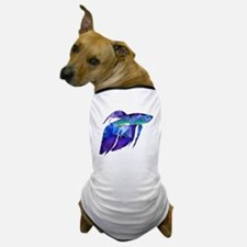 Beta Fish for Polygon Mosaic Blue Purple Dog T-Shi