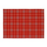 Red plaid 5x7 Rugs