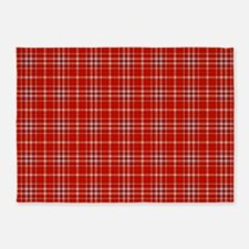 Red Tartan Pattern 5'x7'area Rug