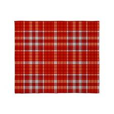Red Tartan Pattern Throw Blanket