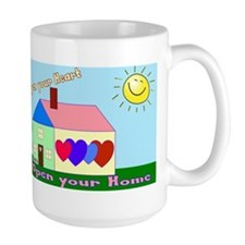 Open Your Home laptop skin Mugs