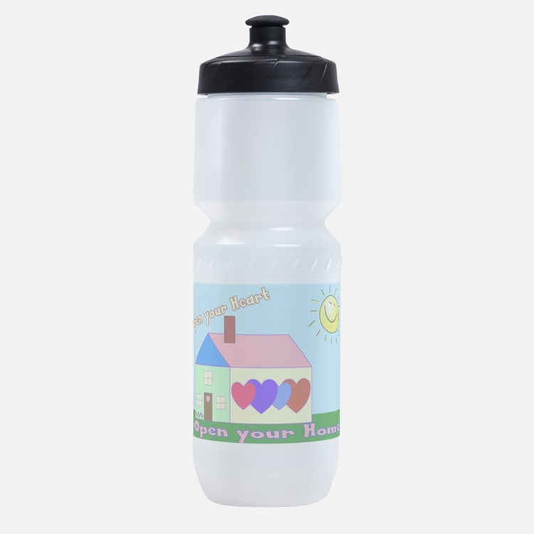 Cute Foster parent Sports Bottle