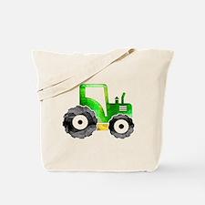 Polygon Mosaic Green Yellow Tractor Tote Bag
