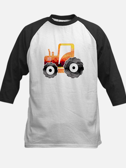 Polygon Mosaic Orange Tractor Baseball Jersey