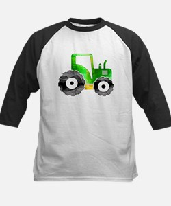 Polygon Mosaic Green Yellow Tractor Baseball Jerse