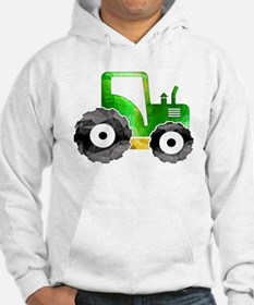 Polygon Mosaic Green Yellow Tractor Hoodie