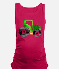 Polygon Mosaic Green Yellow Tractor Maternity Tank