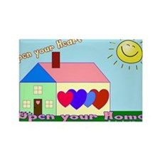 Open your heart w/website Magnets