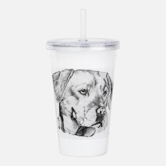 Yellow Labrador retriever Acrylic Double-wall Tumb