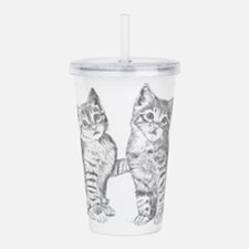 Two Tabby kittens Acrylic Double-wall Tumbler