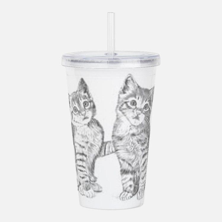 Two Tabby kittens Acrylic Double-wall Tumbler