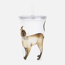 Siamese cat Acrylic Double-wall Tumbler