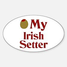 Olive(I Love) My Irish Setter Oval Decal