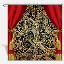 Classic Paisley Gold Shower Curtain