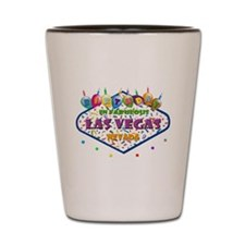 Birthday In Las Vegas Shot Glass
