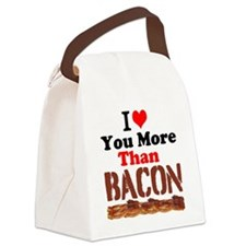 I Love You More Than Bacon Canvas Lunch Bag