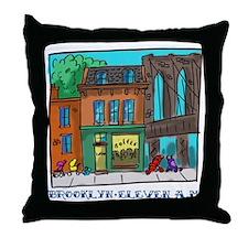 Brooklyn Eleven A.M. Throw Pillow