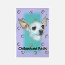 Chihuahuas Rock Rectangle Magnet