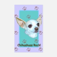 Chihuahuas Rock Rectangle Decal