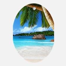 Tropical Island Ornament (Oval)