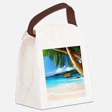 Tropical Island Canvas Lunch Bag