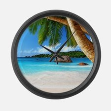 Tropical Island Large Wall Clock