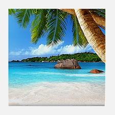 Tropical Island Tile Coaster