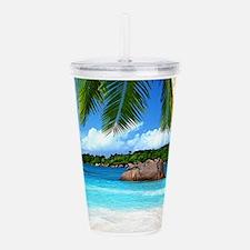 Tropical Island Acrylic Double-wall Tumbler