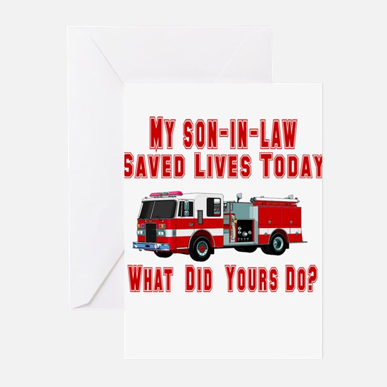 Son In Law-What Did Yours Do? Greeting Cards (Pack