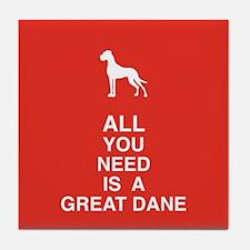 Unique Dogge Tile Coaster