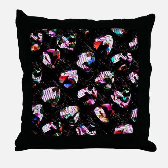 Guitar Pick Art #1 Throw Pillow