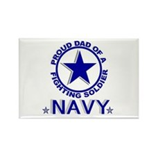 """""""Proud Dad of a Fighting Soldier"""" Rectangle Magnet"""