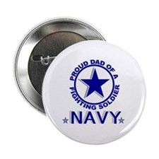 """""""Proud Dad of a Fighting Soldier"""" Button"""