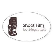 Shoot Film Not Megapixels Decal