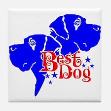 Cute Dogge Tile Coaster