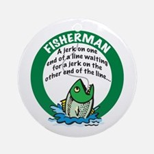 Jerk Fisherman Ornament (Round)