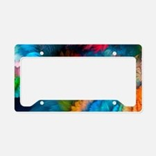 Abstract Clouds License Plate Holder