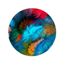 """Abstract Clouds 3.5"""" Button (100 pack)"""