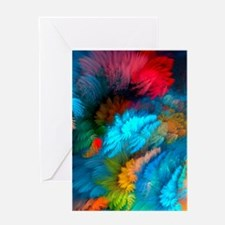 Abstract Clouds Greeting Cards