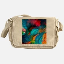 Abstract Clouds Messenger Bag
