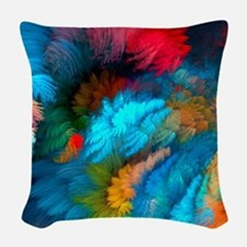 Abstract Clouds Woven Throw Pillow
