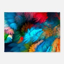 Abstract Clouds 5'x7'Area Rug