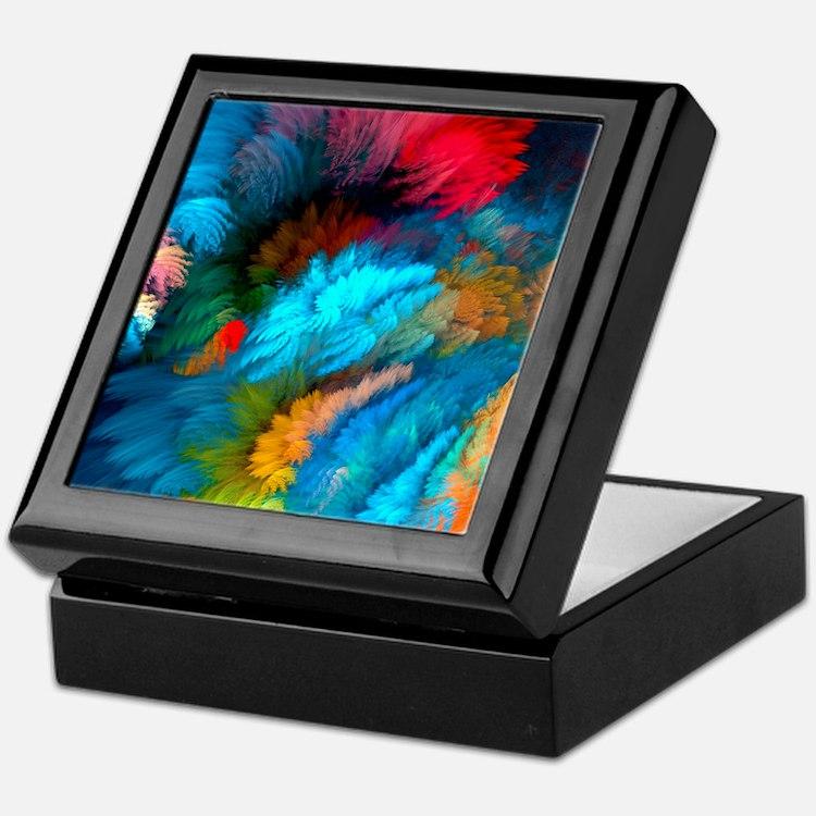 Abstract Clouds Keepsake Box