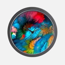 Abstract Clouds Wall Clock