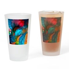 Abstract Clouds Drinking Glass
