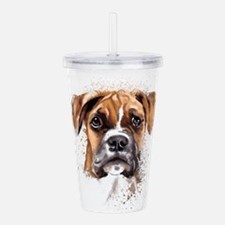 Boxer Painting Acrylic Double-wall Tumbler