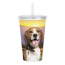 Beagle Meadow Acrylic Double-wall Tumbler