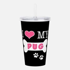 dogboneILOVEMY.png Acrylic Double-wall Tumbler