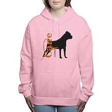 grungesilhouette.png Women's Hooded Sweatshirt